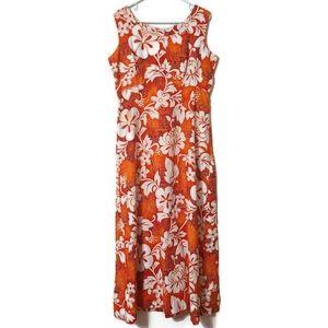 Vintage Royal Hawaiian cotton floral maxi dress